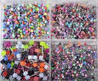 düğme burnu toptan satış-Toptan-Mix Toptan 20 Adet / grup Paslanmaz Çelik Vücut Piercing Kulak / Burun Yüzükler Labret Dudak Tougue Piercing Kaş Belly Button Yüzük ...