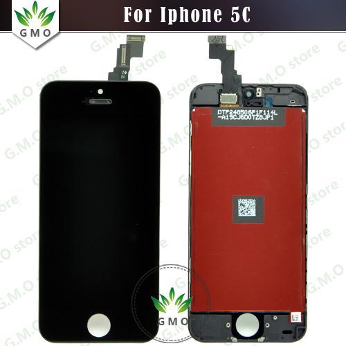 Nuovo LCD originale nero all'ingrosso per schermo LCD Touch Screen Digitizer per iPhone 5C con montaggio telaio nero o bianco Spedizione gratuita