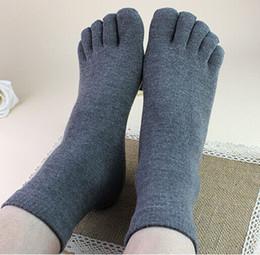 Wholesale Sweat Socks Men - Wholesale-Bestselling Men women five toe socks cotton winter toe socks for men antibacterial deodorant sweat sport socks calcetines unisex