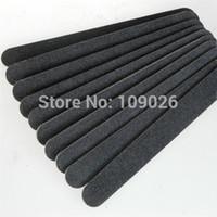 Wholesale Nail Straight Acrylic - Wholesale-100pcs 100 180 Black straight Nail File For Acrylic UV GEL Nail Manicure Tools - Free Shipping