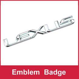 Wholesale Lexus Car Emblem - Wholesale-B017 Car Chromed Emblem Badge Decal Sticker For LEXUS RX350 ES350 IS200