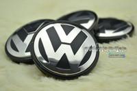 Wholesale Vw Centre Caps - Wholesale-4PC X 56mm Auto Alloy VW Wheel Centre Emblem for VW Car Wheel Center Hubs Caps Badge w04
