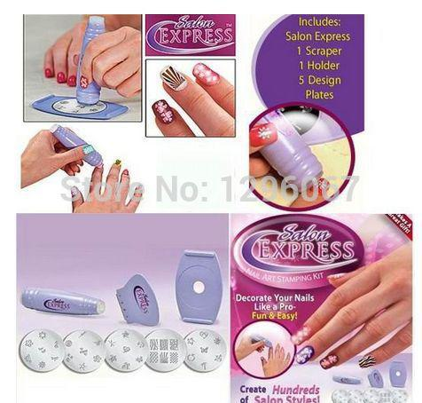 Wholesale Christmas Salon Express Pro Nail Art Stamping Polish Kit ...