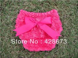 Wholesale Dk Girls - DK-008 Baby lace Panties girl Ruffle Bloomer Shorts pink newborn diaper kids bow underwear infant rose flower pant 8 colors