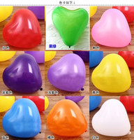 Wholesale Heart Wedding Latex Balloons - Wholesale-Free Shipping 7-Inch Heart-Shaped Balloon200pcs Lot Wedding Heart Balloons Latex Balloons Event & Party Supplies