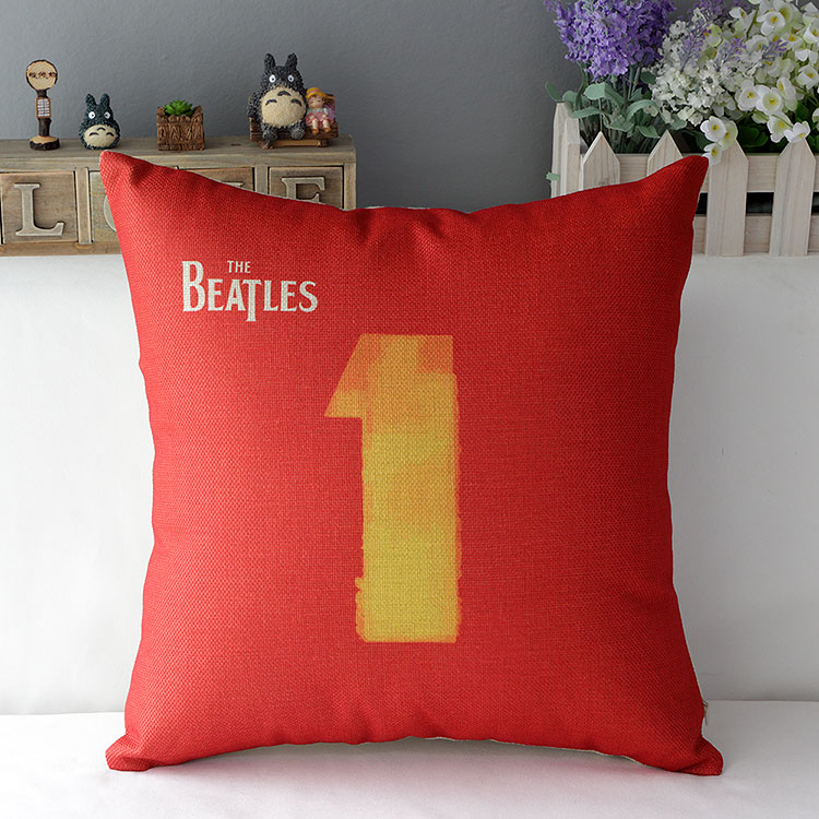 Beatles Pillow Cover The Beatles Classic Cotton Linen