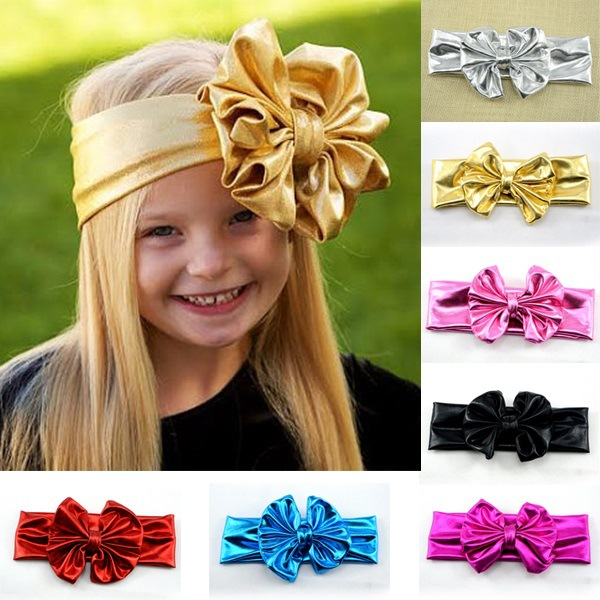2017 Baby Headbands Girls Head Wraps Messy Bow Baby Head