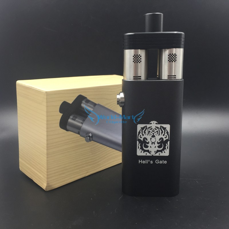 hell 39 s gate box mod dual thread with 2 rda atomizer hell s. Black Bedroom Furniture Sets. Home Design Ideas