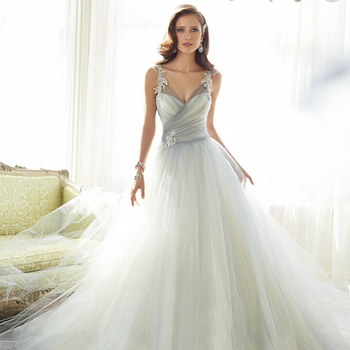 Discount Designer Wedding Gowns: Discount 2016 Romantic Tulle Dress Wedding Style With