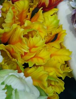 желтый + оранжевый