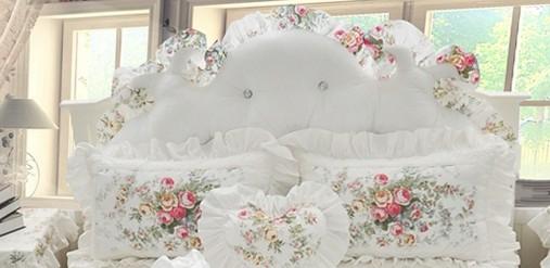 Cushion di testa bianca1pcs con ripieno di cotone
