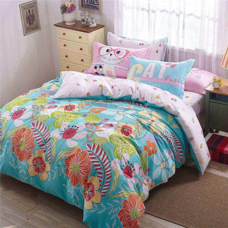 Penguin Turquoise Bedding Set Sweet Design For Kids Duvet