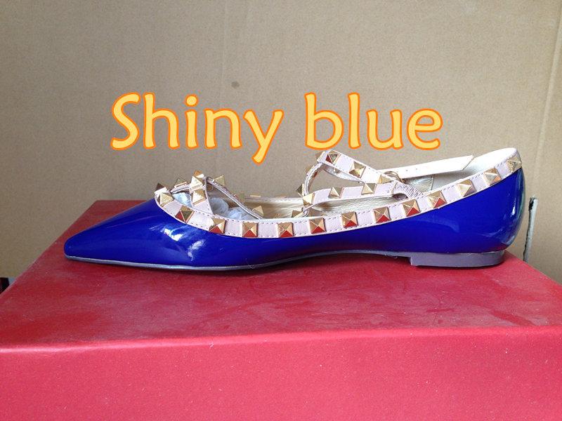 glänzenden blauen