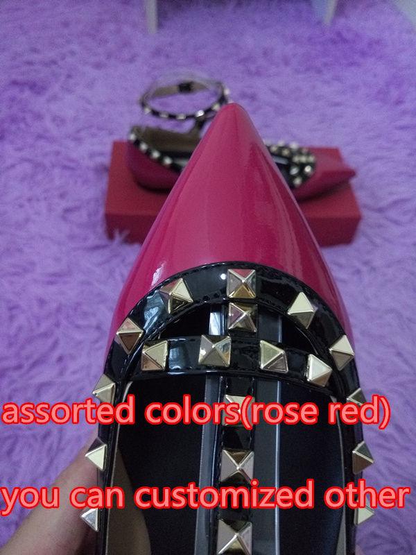 Rose rot mit schwarzen