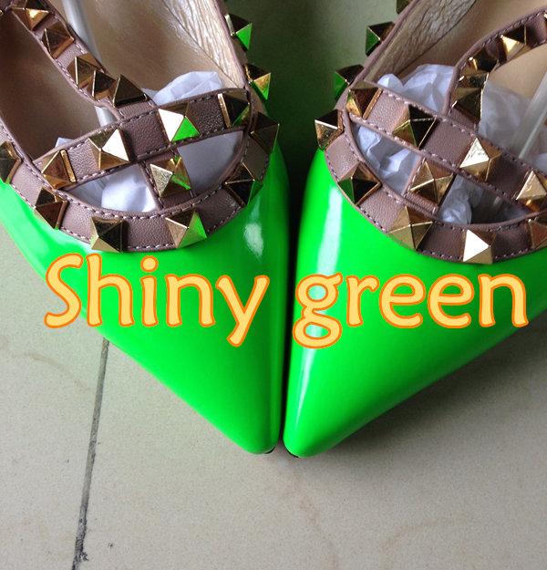 glänzend grün