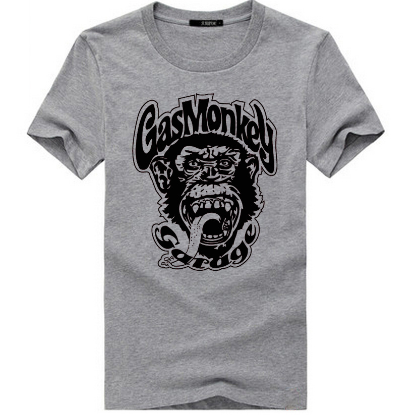 2016 GAS MONKEY GARAGE Car Fashion Mens Streetwear T-Shirt