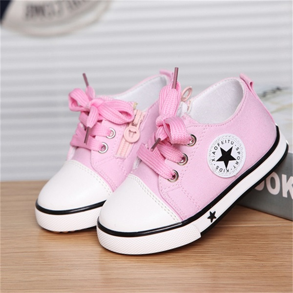 New Spring Canvas Children Shoes Baby Breathable Sport ...