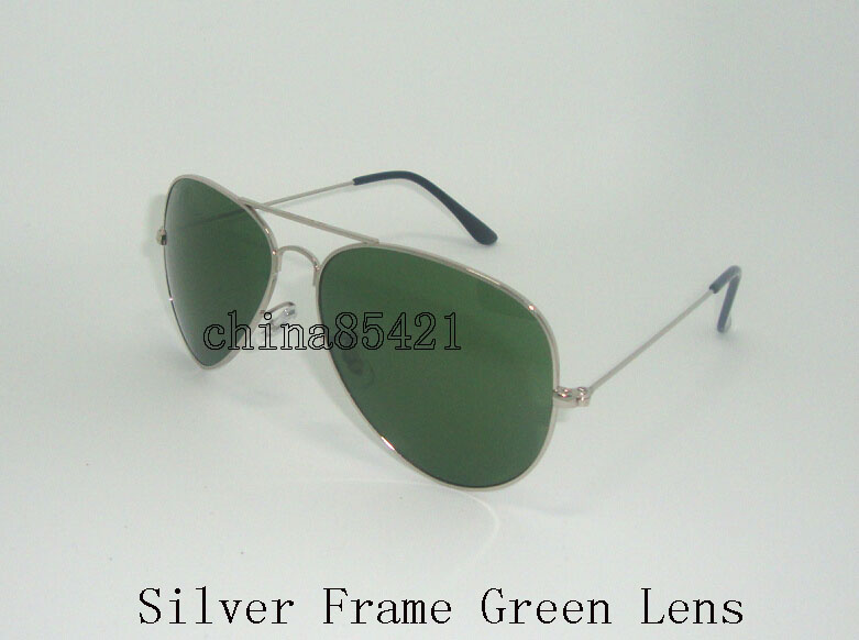 Silber Frame Grün Lens