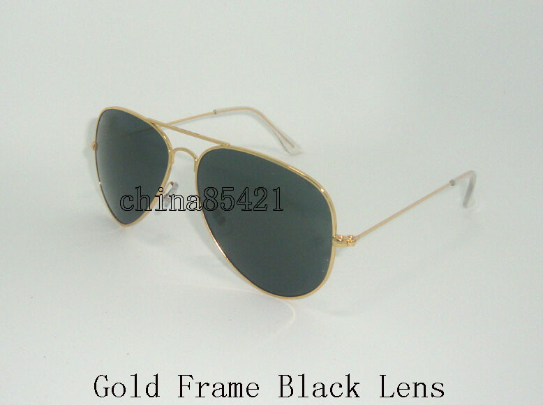 Gold Frame Black Gläser