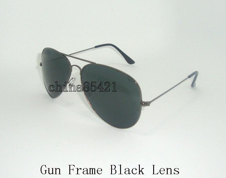 Gun-Rahmen-Schwarz-Linse
