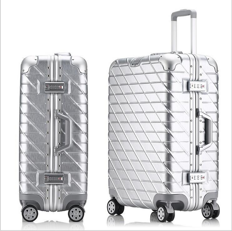 Wholesale Rolling Travel Cases - 29 inch Aluminum frame & drawbars+PC TSA lock Universal wheel Scratch resistant luggage travel case suitcase trolley bags valise bagage