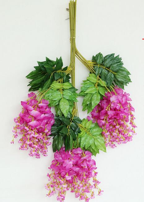 70cm Fuchsia Color Wisteria Rattans