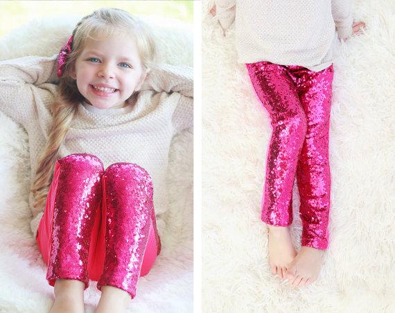 Gold Baby Leggings Gold Sparkle Pants Girls Leggings