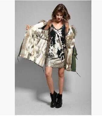 Khaki White Fur