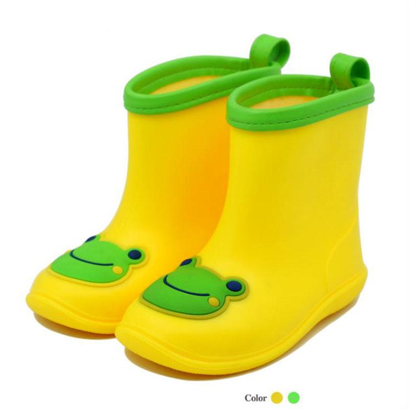 2019 Children Cartoon Frog Rain Boots Kid Boys Girls