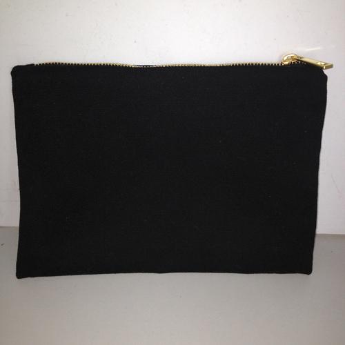Noir avec zip noir et or