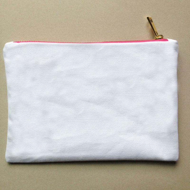 Blanc avec zip rose-or