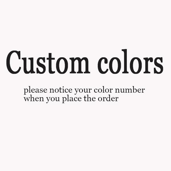 Hecho a la medida de carta de color