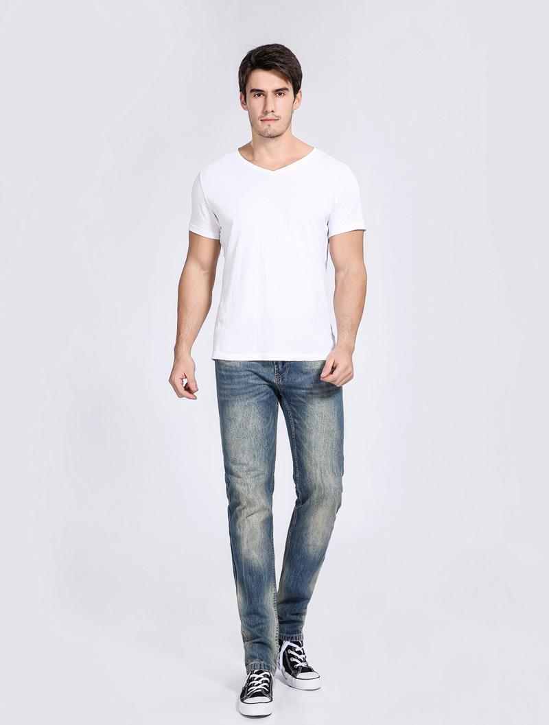 online cheap 2017 men jeans business casual pants straight beautiful color restoring ancient. Black Bedroom Furniture Sets. Home Design Ideas