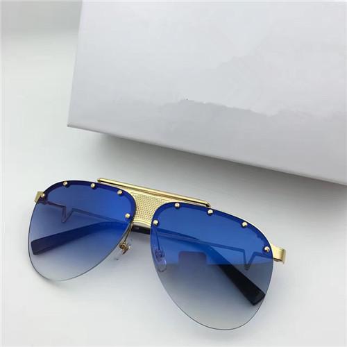 lente azul oro