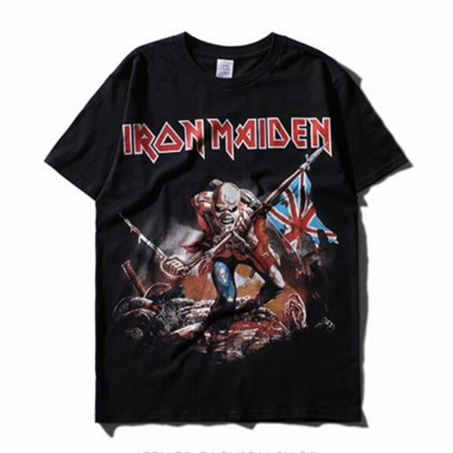 iron maiden music band t shirt mens heavy metal rock tee. Black Bedroom Furniture Sets. Home Design Ideas