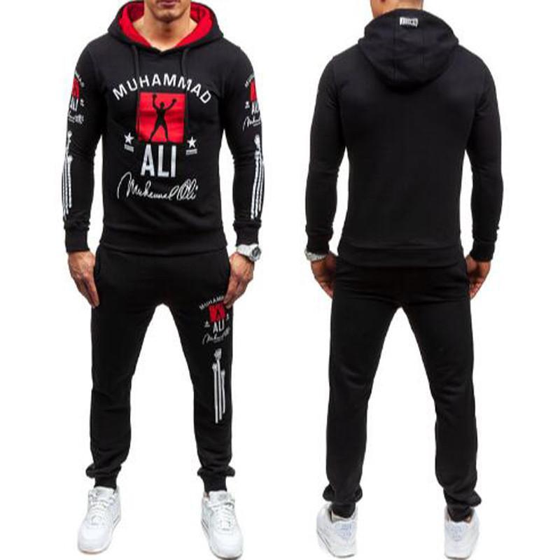 NEW Mens Legend Muhammad Ali Tracksuit Hoodie And Pants Men Sportswear