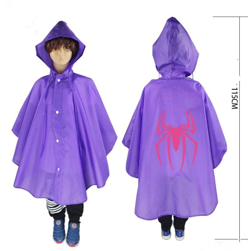 Kids Superhero Raincoat Batman Spiderman Rain Coat