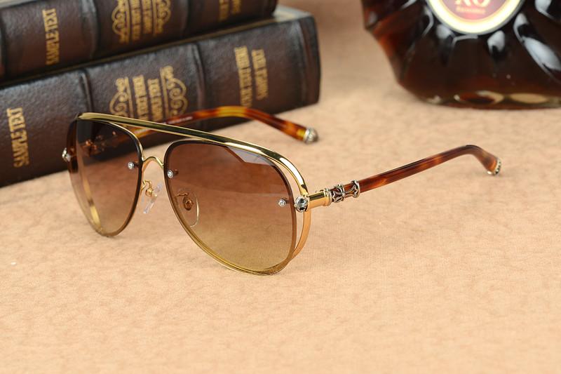 Altın Çerçeve Kahverengi Lens