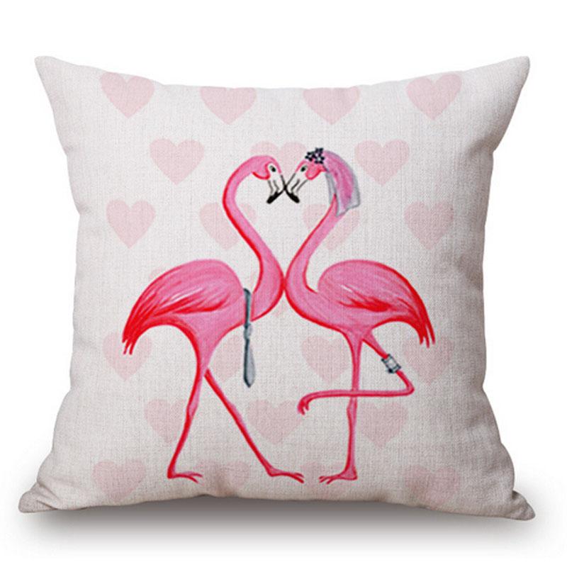 Throw Pillow Vendors : Christmas Flamingo Sofa Cushion Covers Manufacturers Linen Cotton Throw Pillow Covers For Home ...