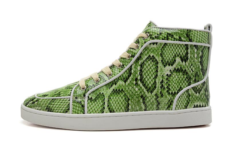 13 de serpiente de impresión verde