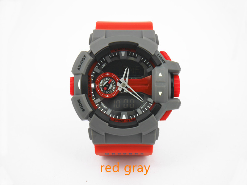 красный серый