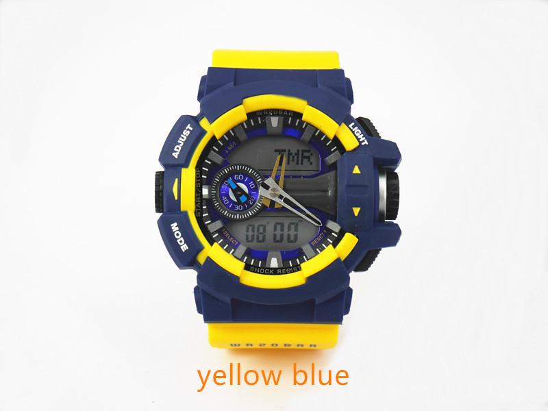 желтый синий