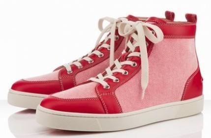 5 cuero rojo con lienzo rosa