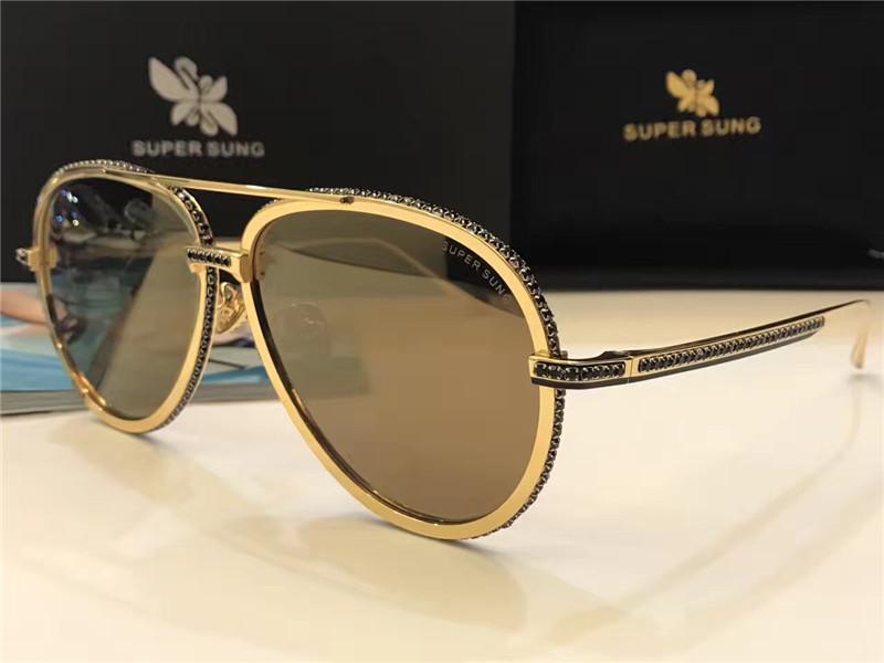 ouro lentes espelhadas