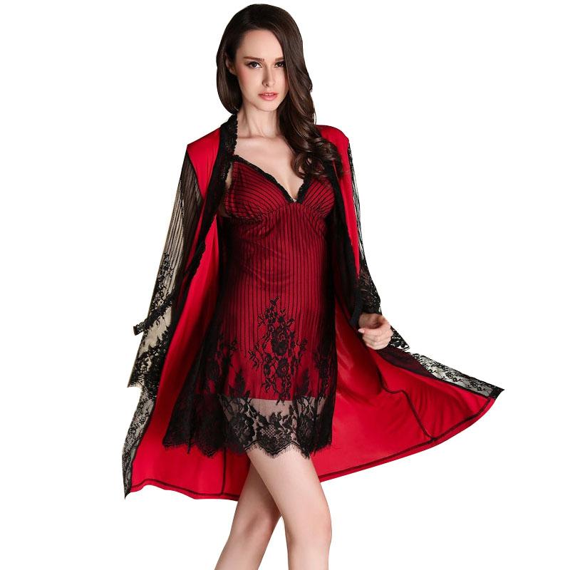 vermelho Pijamas Mujer