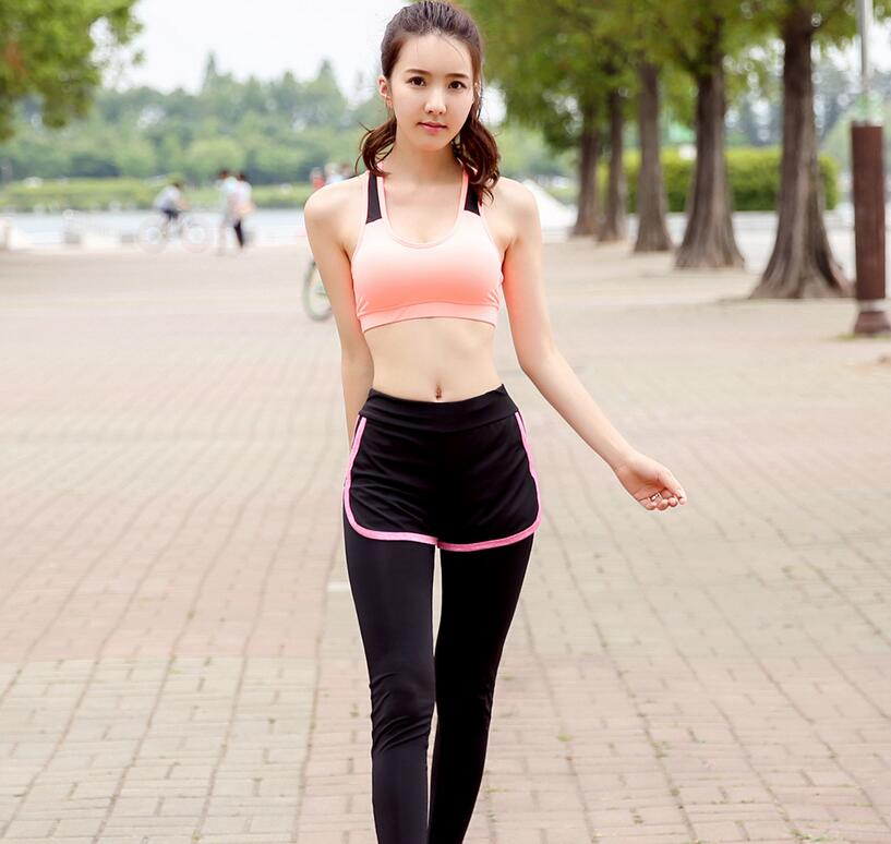 Bras pink +trousers black gray