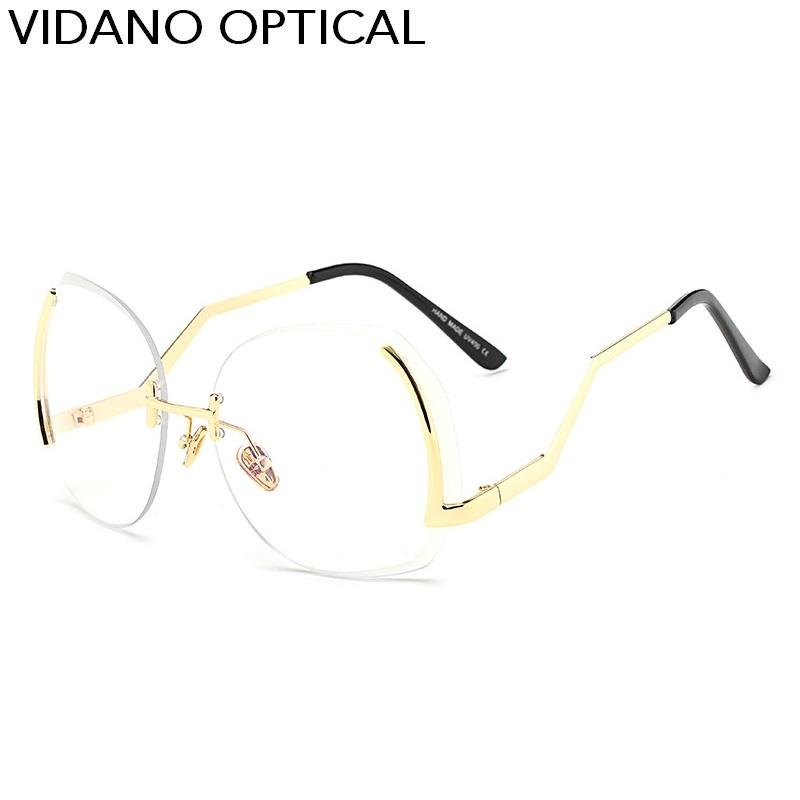 Golden Frame lente trasparente