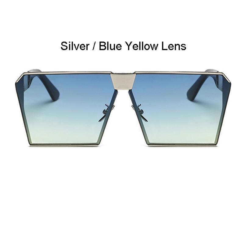 Silberrahmen Blau Gelb Linse