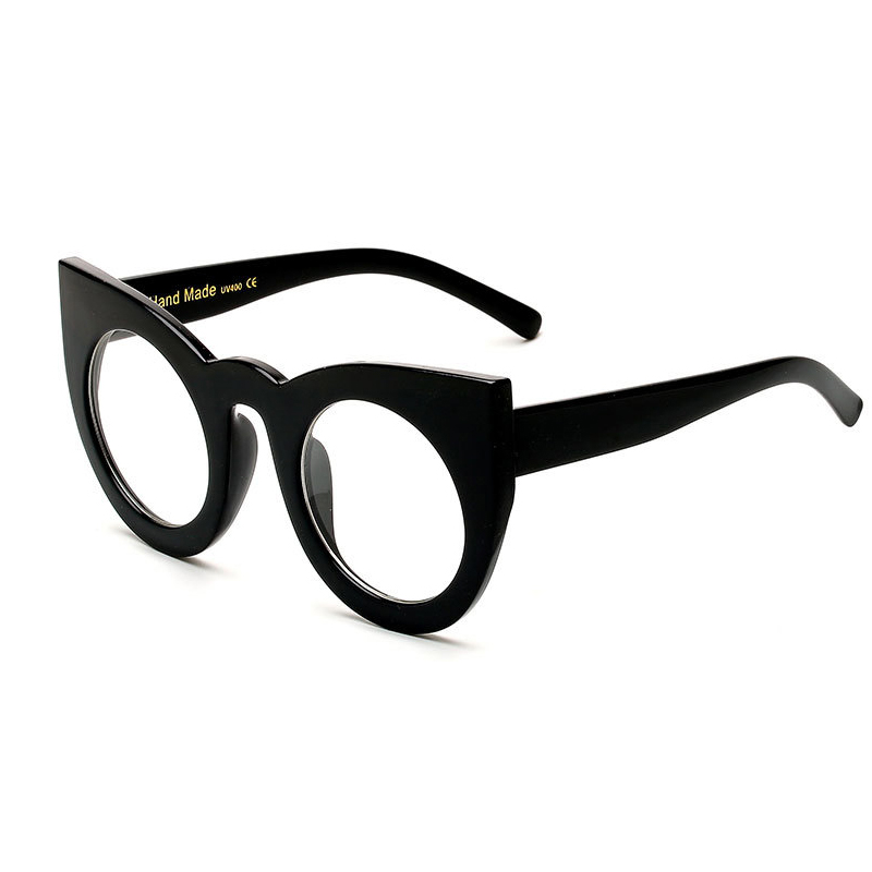 C9 Glossy Black Frame Clear Lens
