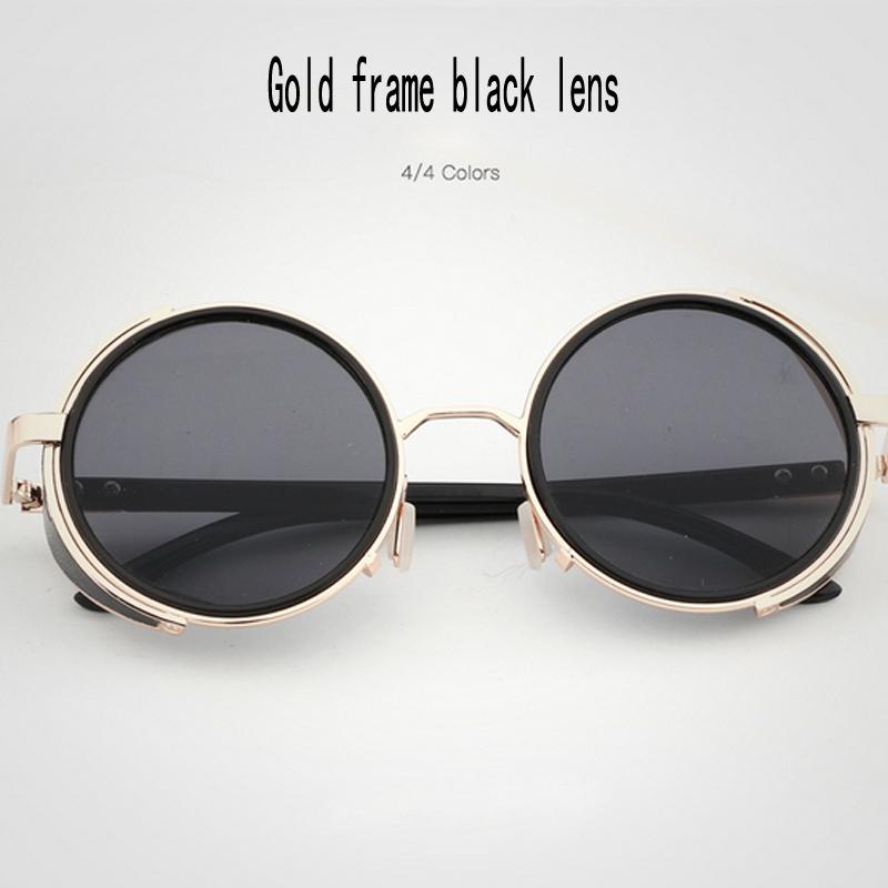 Gold frame lenti nero